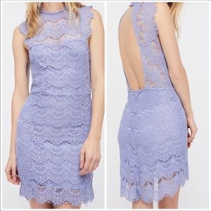 NWT Free People Daydream Lace Minidress in Lake